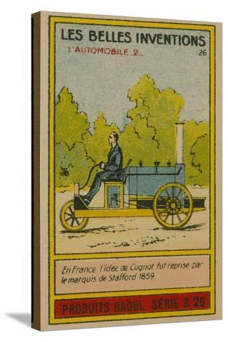 Beautiful Inventions Card, Automobile--Stretched Canvas Print