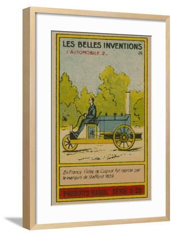 Beautiful Inventions Card, Automobile--Framed Art Print
