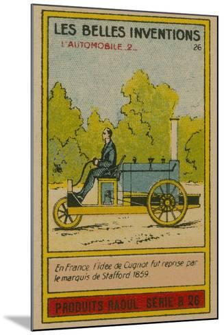 Beautiful Inventions Card, Automobile--Mounted Giclee Print
