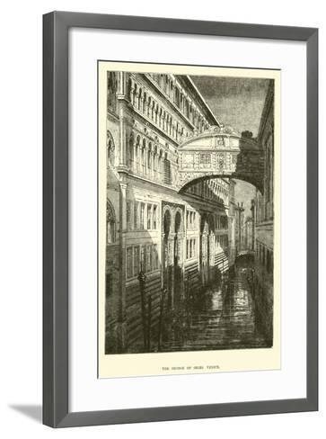 The Bridge of Sighs, Venice--Framed Art Print
