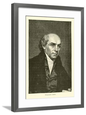 William Carey--Framed Art Print