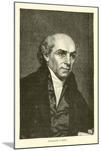 William Carey--Mounted Giclee Print
