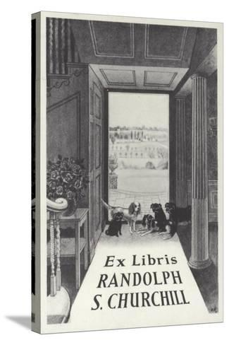 Ex Libris Randolph S Churchill--Stretched Canvas Print