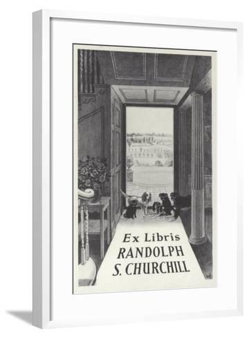 Ex Libris Randolph S Churchill--Framed Art Print