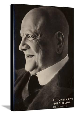 Portrait of Jean Sibelius--Stretched Canvas Print