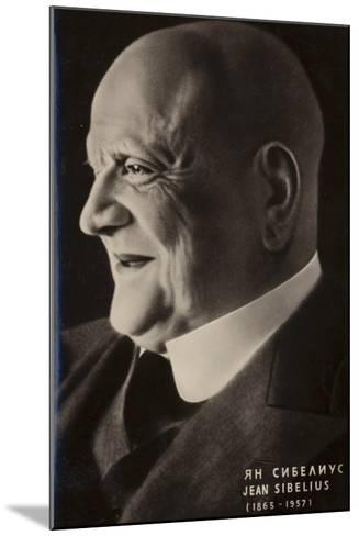 Portrait of Jean Sibelius--Mounted Photographic Print