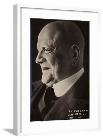Portrait of Jean Sibelius--Framed Art Print