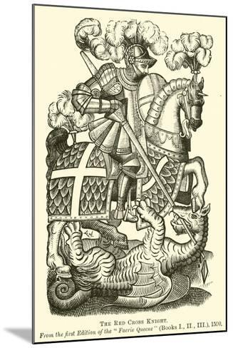 The Red Cross Knight--Mounted Giclee Print