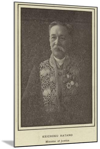 Keichoku Hatano, Minister of Justice--Mounted Photographic Print