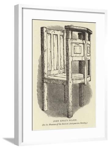 John Knox's Pulpit--Framed Art Print
