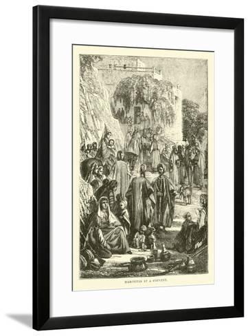 Maronites at a Convent--Framed Art Print