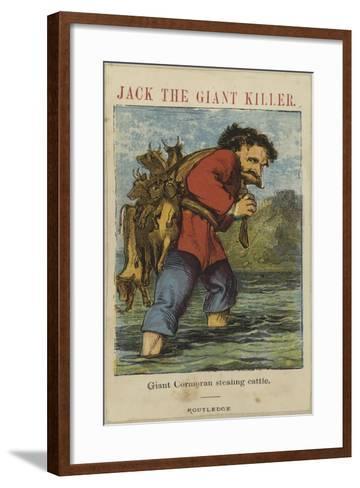 Giant Cormoran Stealing Cattle--Framed Art Print