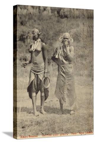 Kikuyu Beauties--Stretched Canvas Print