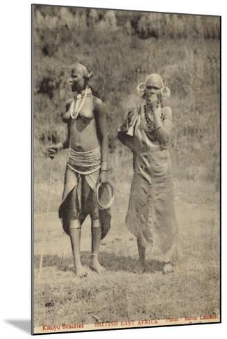 Kikuyu Beauties--Mounted Photographic Print