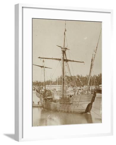 Santa Maria, Columbus' Ship--Framed Art Print