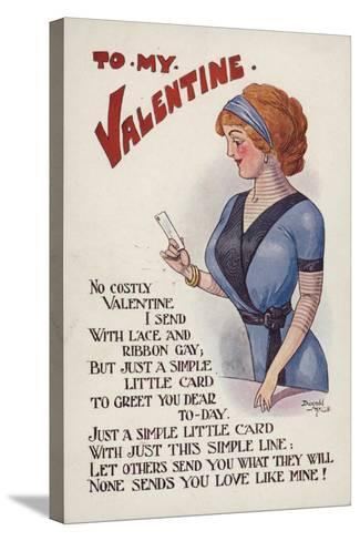 Valentine's Card--Stretched Canvas Print