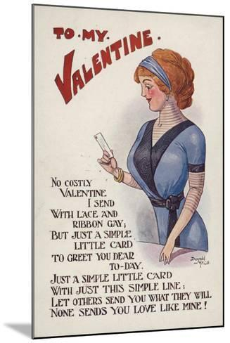 Valentine's Card--Mounted Giclee Print
