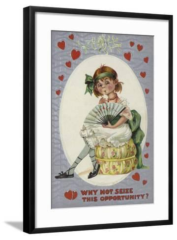 Why Not Seize This Opportunity?--Framed Art Print