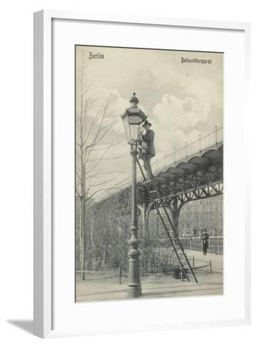 Berlin, Lighting the Gas Lights--Framed Art Print