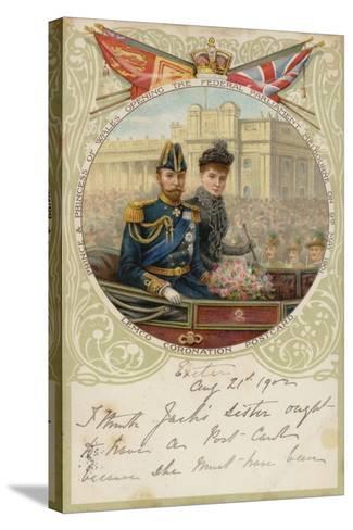 Coronation Postcard, 1902--Stretched Canvas Print