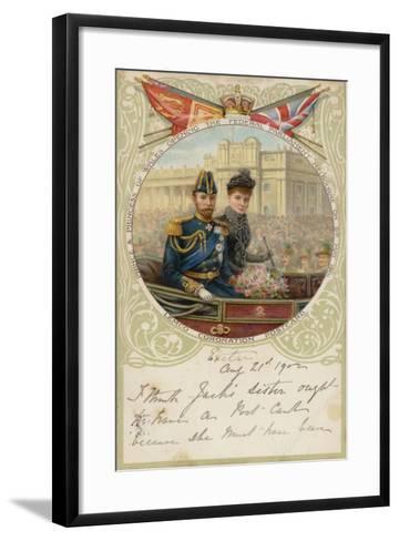 Coronation Postcard, 1902--Framed Art Print