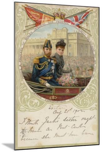 Coronation Postcard, 1902--Mounted Giclee Print