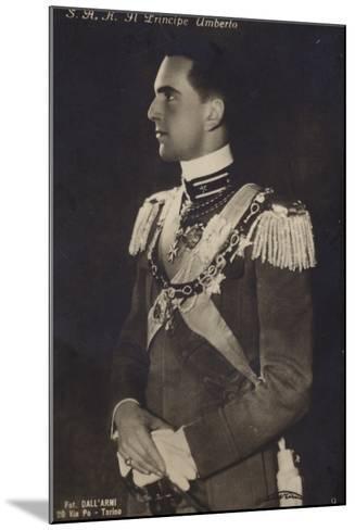 Principe Umberto--Mounted Photographic Print