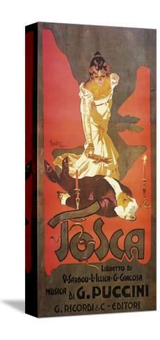 Poster for Tosca, Opera-Giacomo Puccini-Stretched Canvas Print