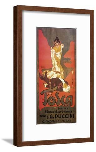 Poster for Tosca, Opera-Giacomo Puccini-Framed Art Print