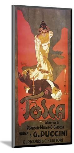 Poster for Tosca, Opera-Giacomo Puccini-Mounted Giclee Print