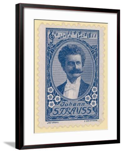 Johann Strauss II, Austrian Composer--Framed Art Print