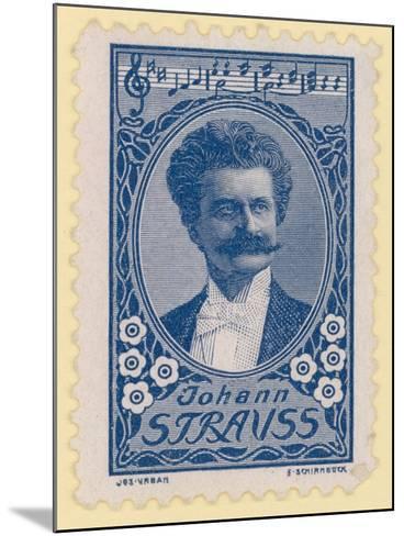 Johann Strauss II, Austrian Composer--Mounted Giclee Print