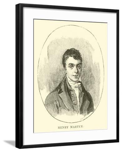 Henry Martyn--Framed Art Print