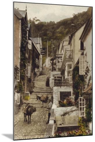 High Street, Clovelly, Devon--Mounted Photographic Print