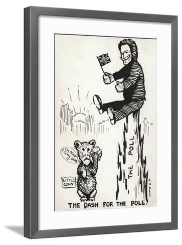 The Dash for the Pole--Framed Art Print