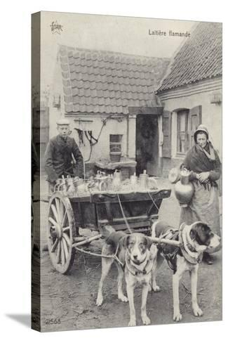 Flemish Milkmaid and Mobile Dairy--Stretched Canvas Print