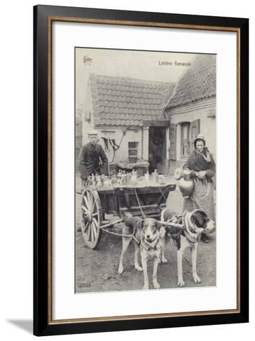 Flemish Milkmaid and Mobile Dairy--Framed Art Print