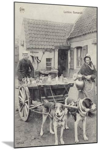 Flemish Milkmaid and Mobile Dairy--Mounted Photographic Print