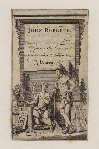 John Roberts, Trade Card--Stretched Canvas Print