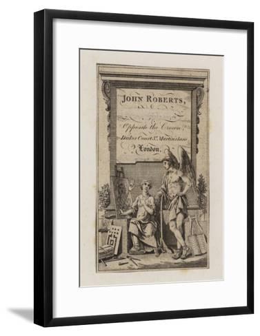 John Roberts, Trade Card--Framed Art Print