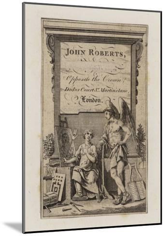 John Roberts, Trade Card--Mounted Giclee Print