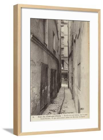Postcard Depicting Old Paris--Framed Art Print