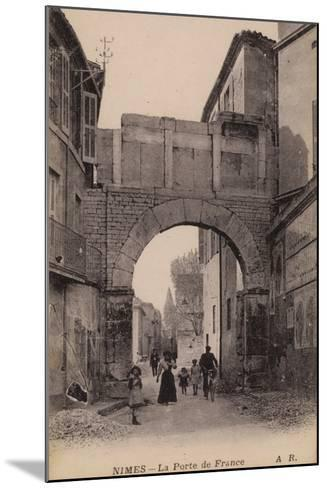 Postcard Depicting the Porte De France--Mounted Photographic Print