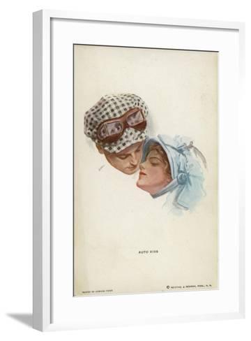 Auto Kiss--Framed Art Print