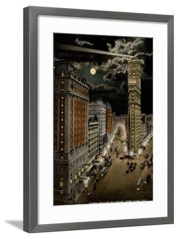 Times Square by Night, New York City, USA--Framed Art Print