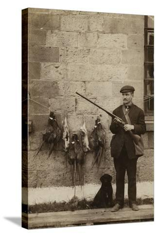 Hunter with Pheasants--Stretched Canvas Print