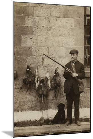 Hunter with Pheasants--Mounted Photographic Print