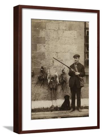 Hunter with Pheasants--Framed Art Print