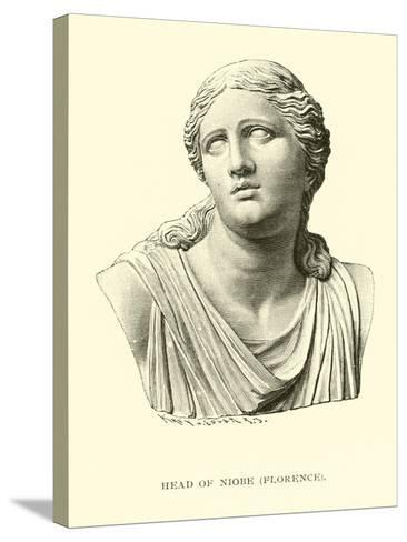 Head of Niobe, Florence--Stretched Canvas Print