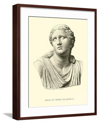 Head of Niobe, Florence--Framed Art Print
